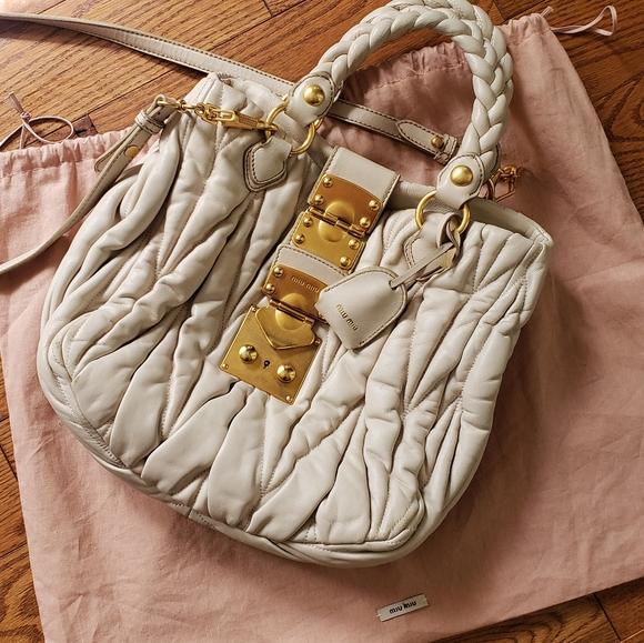 Miu Miu Handbags - Miu miu  💯 %  mathesse leather bag.